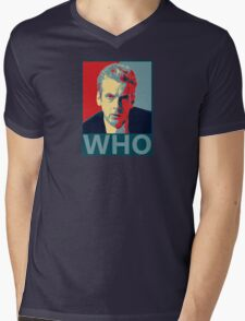 Who? Mens V-Neck T-Shirt