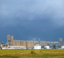 Storm Clouds Over The Silos by WildestArt