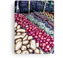 The greengrocers Canvas Print