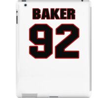 NFL Player Chris Baker ninetytwo 92 iPad Case/Skin