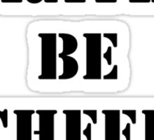 Right Now, I'd Rather Be Cheerleading - Black Text Sticker