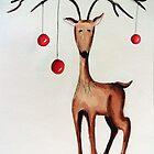 Cherry Reindeer by Ivana Gatica