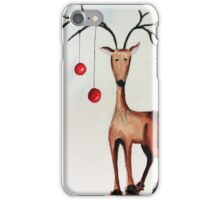 Cherry Reindeer iPhone Case/Skin