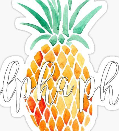 Alpha Phi Pineapple Sticker