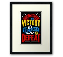 The Thrill of Victory Framed Print