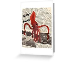 Giant Squid Greeting Card