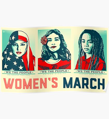 women's march official 2017 Poster