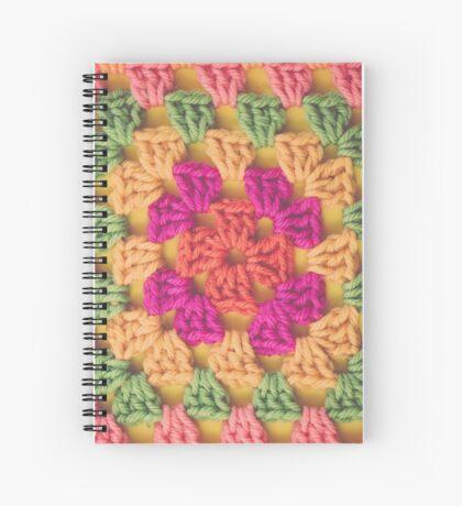 Bright Modern Crochet Background Spiral Notebook
