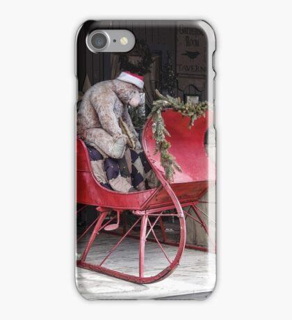 Bear Sleigh Ride iPhone Case/Skin