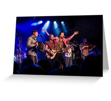 Bellowhead on stage Greeting Card