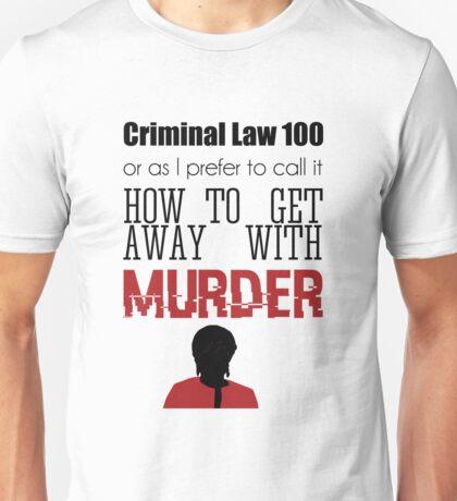 Criminal Law 100 Unisex T-Shirt