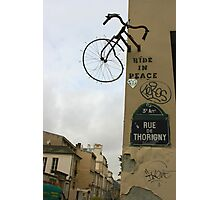 Bikes & Graffiti Photographic Print