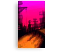 Twilight in the city Canvas Print