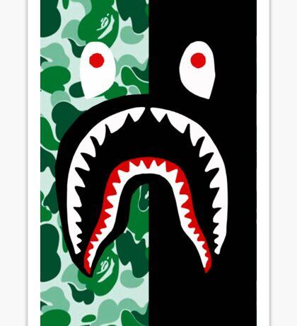 shark bape green Sticker