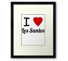 I Heart Los Santos Framed Print