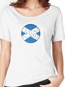 FREE SCOTLAND 45 Button Design Women's Relaxed Fit T-Shirt