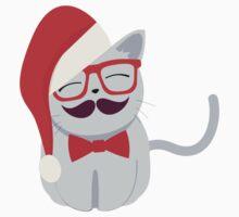 Hipster Santa Cat Kids Clothes