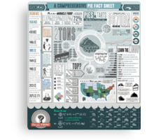 Pie: A Comprehensive Infographic Canvas Print
