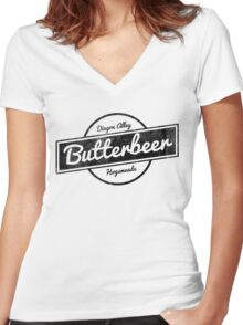 Butterbeer Women's Fitted V-Neck T-Shirt
