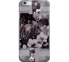 black white orchid iPhone Case/Skin