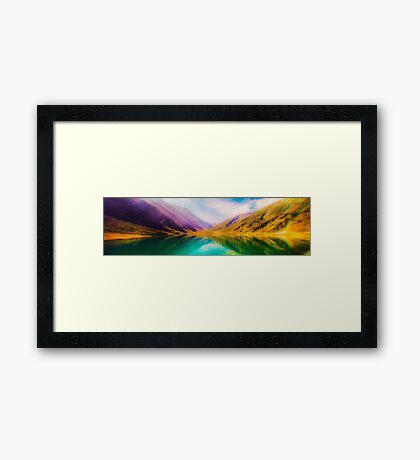 Pano Mountains Framed Print