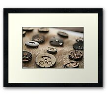 Beloved buttons ...... Framed Print