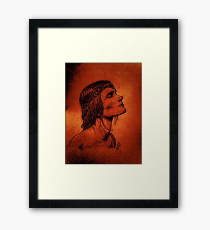 A Woman Born from Fire Framed Print