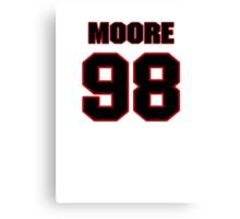 NFL Player Damontre Moore ninetyeight 98 Canvas Print