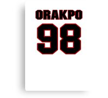 NFL Player Brian Orakpo ninetyeight 98 Canvas Print