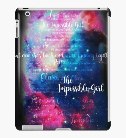 She was Always Impossible iPad Case/Skin
