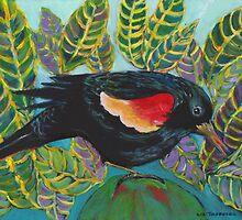 Red-wing Blackbird by Liz Thoresen