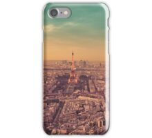 Paris - City of Lights at Sunset iPhone Case/Skin