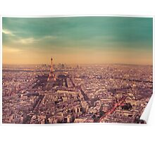 Paris - City of Lights at Sunset Poster