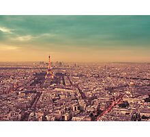Paris - City of Lights at Sunset Photographic Print