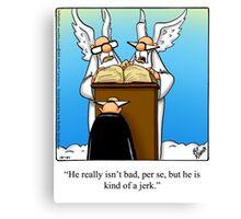 "Funny ""Spectickles"" Heaven Cartoon Canvas Print"