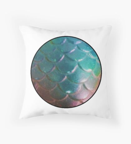 Mermaid Scale Throw Pillow