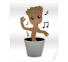 Dancing Groot Poster