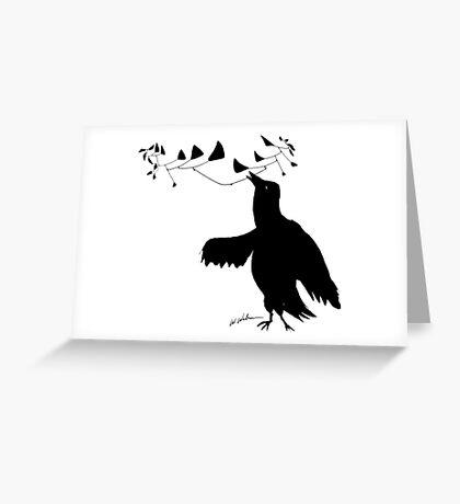 Smart Bird Greeting Card