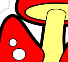 Mushrooms Red Sticker