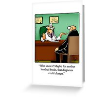 "Funny ""Spectickles"" Healthcare Cartoon Greeting Card"