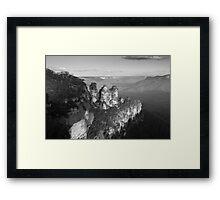Three Sisters Black & White Framed Print