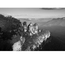 Three Sisters Black & White Photographic Print