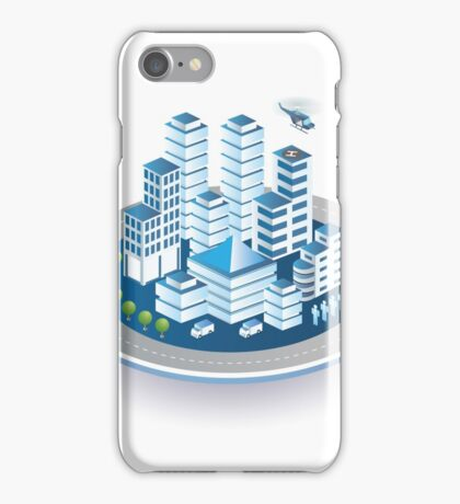 Isometric city iPhone Case/Skin