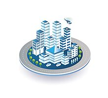 Isometric city Photographic Print