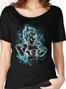 Vegeta Super Saiyan Blue With Aura-63 Women's Relaxed Fit T-Shirt