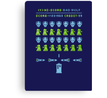 Dr Who: Space Invader Canvas Print
