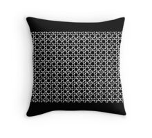 GEOMETRIC PATTERNS, BLACK AND WHITE Throw Pillow