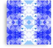 Blue Christmas pattern Canvas Print