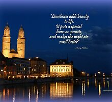 Zurich Evening by Charmiene Maxwell-batten