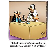 "Funny ""Spectickles"" Foodie Cartoon Photographic Print"